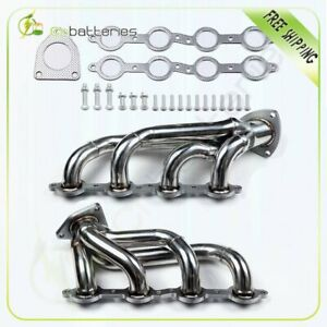 Engine Stainless Exhaust Manifold Header For 03 16 Chevy gmc 5 2l 6 2l V8 Ohv