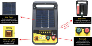 Zareba Electric Fence Charger Solar Controller Low Impedance 5 Miles Esp5m z
