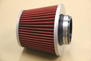 Universal High Performance Red 3 Inlet Cone Dry Flow Air Filter 3 Air Filter
