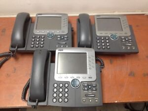 Lot Of 3 Cisco Ip Phones 7970g Ph580ds