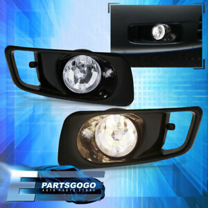 1999 2000 Honda Civic Ek Driving Clear Front Jdm Bumper Fog Lights Lamps Pair