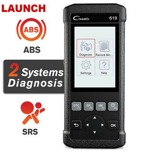 Launch Cr619 Abs Srs Airbag Scanner Car Engine Check Code Reader Diagnostic Tool