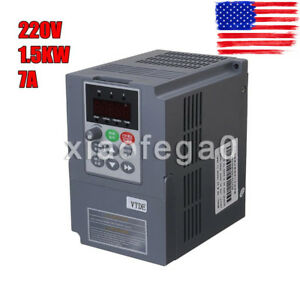 1 5kw 220v Vfd Inverter 2hp 7a Frequency Variable Drive Cnc Speed Control Vsd Us