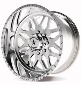 4 New American Force Trax Wheels 22x12 Offroad Ford Dodge Chevy Gmc