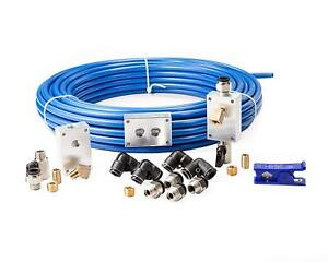 1 2 X 100ft Compressed Air Piping System Master Kit Tubing Line Fitting 150psi