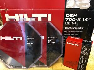 Hilti Dsh 700 14 Gas Cut Off Saw With 2 Diamond Blades