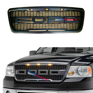 Black F150 04 08 Grille Front Upper Grill For Ford F 150 Raptor Style 2004 2008