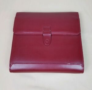 Franklin Covey Classic Leather Binder Day Planner Organizer Red