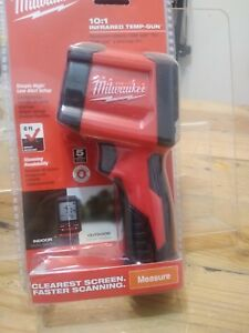 Milwaukee Infrared 10 1 Thermometer Temperature Measuring Gun Tool Lcd Display
