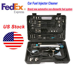 Fuel Injector Cleaner tester C100 Non dismantle Air Intake System Nozzle Car Us