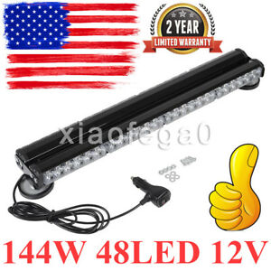 144w 48led 12v Strobe Flashing Lamp Emergency Hazard Warning Light Yellow In Usa