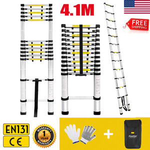 13 45ft Heavy Duty Aluminium Multi Purpose Telescopic Extension Foldable Ladder