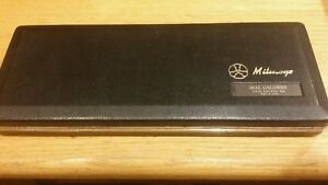 Vintage Mitutoyo Dial Caliper 504 801 With Metal Case Made In Japan