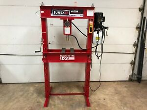 Sunex 40 Ton Electric Hydraulic Shop Press With Controller 110v 2hp 5740ep