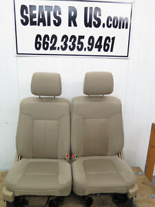 2008 2009 2010 2011 2012 Ford F150 Front Cloth Bucket Seats Power Tan Cloth