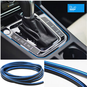 Blue 5m Car Interior Door Gap Edge Line Styling Molding Trim Strip Accessory Us