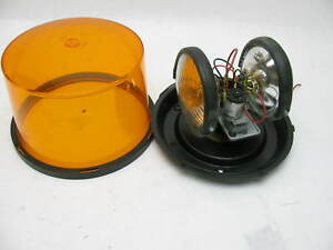Vintage Dietz Rotating Beacon Light Amber Dome 7 72001 77 234