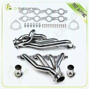 Stainless 4 1 Shorty Exhaust Manifold Header collectors For Gmc Sonoma s15 s10