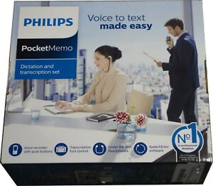 Philips Dpm6700 Pocket Memo Dictation And Transcription Set New