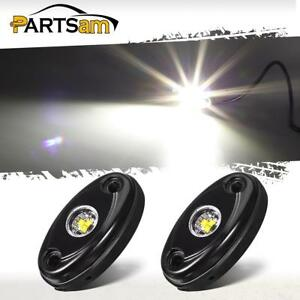2x White 9w High Power Led Rock Rig Light Kit For Jeep Truck Suv Off Road Boat