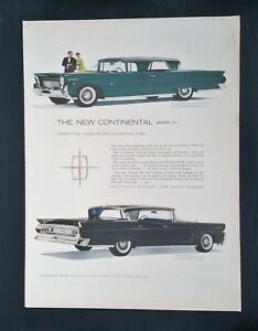 Vintage 1958 Lincoln Continental Mark Iii Full Page Color Ad