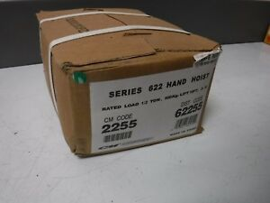 Genuine Cm Series 622 Hand Chain Hoist 10 Lift 1 2 Ton Cap brand New In Box