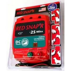 New Red Snap r Edc25m rs Low Impedance Dc Powered Fencer Fence Charger