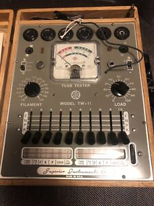 Vintage 1960 s Superior Instruments Tw 11 Tube Tester W Manual