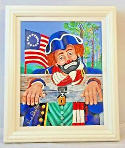 Red Skelton Independance Day Porcelain Plaque And Frame 14 25 X 17