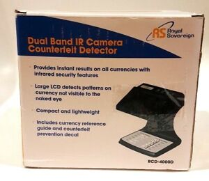 Royal Sovereign Dual Band Infrared Camera Money Counterfeit Detector Rcd 4000d