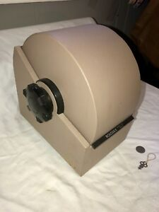 Vintage Rolodex 3500 s Metal Covered Rotary Card File With Key Lock