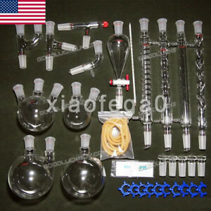 32pcs 24 29 Organic Chemistry Laboratory Glassware Kit Lab Chemilcal Unit In Usa