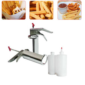 Manual 1l Stainless Steel Spanish Donuts Churrera Churros Filler Filling Machine