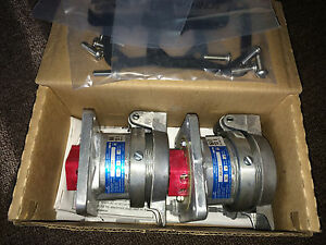 Box Of 2 Cooper Crouse hinds Ar341 M3 30a 4w4p Arktite Rcpt W spring Door