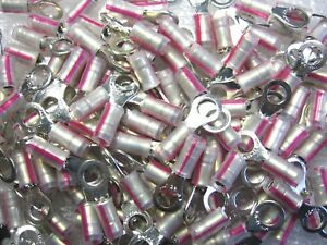 500 Amp Tyco 53409 1 Insulated Ring Tongue Terminals 22 16 Awg 10 Stud Tab