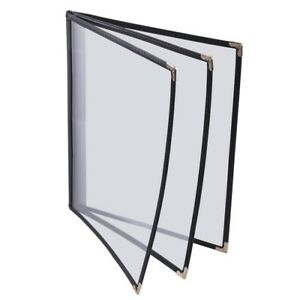 30pcs Book Style Restaurant Menu Cover With 6 Views Fit For 8 1 2 lx11 w Lett