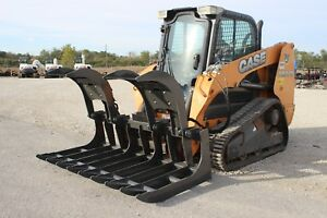 Case Tr270 Skid Steer 72 Grapple Bucket Low Hours Free Shipping To Hurricane