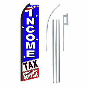 Income Tax Service 15 Complete Swooper Flag Starter Kit Bow Feather