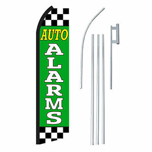 Auto Alarms 15 Complete Swooper Flag Starter Kit Bow Feather Flutter