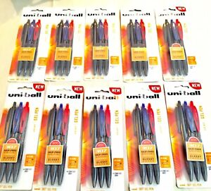 Uniball 307 Gel Pen Lot Of 10 Packs New Assorted Color Black Blue Red