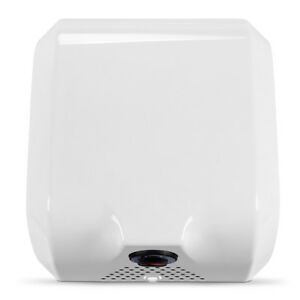 Electric 1800 Watts Eco friendly High Speed Automatic Hot Air Hand Dryer White
