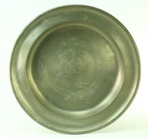 Antique 1822 Large Pewter Plate Charger 13 Barnard S Inn Tavern Maine 1776