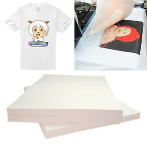 20 Pcs On T shirt Light Fabric A4 Inkjet Printer Heat Transfer Paper Kit