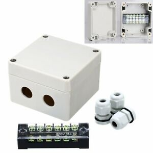 Waterproof Box Enclosure Electrical Junction Connector Terminal Wire Cable Case