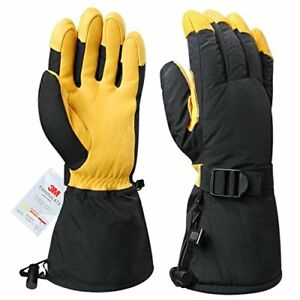 Ozero Winter Ski Gloves Cold Proof Work Glove With x large gold gloves