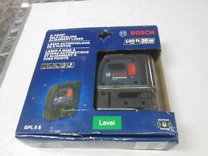 Bosch 100ft Gpl 5 S 5 point Self leveling Alignment Laser Level 5s New Sealed