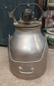 Vintage Delaval Stainless Steel Cream Can Milk Pail Bucket Handle