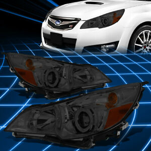 For 10 14 Subaru Outback legacy Smoked Housing Projector Headlight Replacement