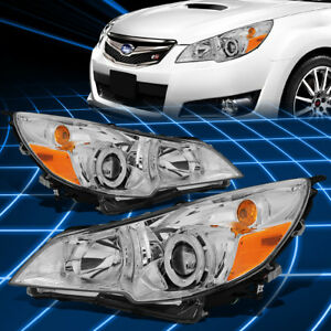 For 10 14 Subaru Outback legacy Chrome Housing Projector Headlight Replacement