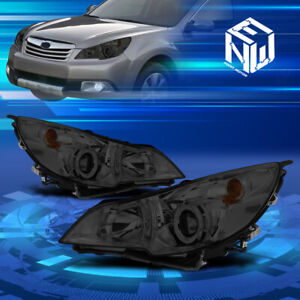 For 10 14 Subaru Outback legacy Smoked Housing Projector Headlights Replacement